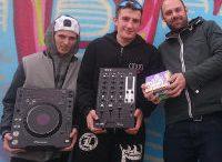 """Die Dj´s Dominik und Patrick, Christop Sackl (Verein """"Firefly""""). Foto: Jugendzentrum Steppenwolf, z.V.g."""