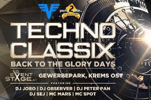 "Techno Classix IV - back to the glory days @ <a href=""http://www.cityflyer.at/listing/eventstage-krems/"">Eventstage Krems</a>"