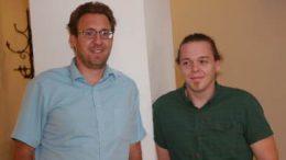 Christoph Kollarz (li.) und Stephan Edtmayer betreiben mit ihrer Veranstaltungsfirma Inside Events OG den Club 23 in der Jahnturnhalle. Foto © Marlene Vallaster, z.V.g.