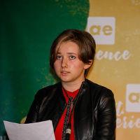 """Marie Jeitler steht beim Literaturwettbewerb """"schreib.art"""" ganz oben am Podest. Foto © privat, z.V.g."""