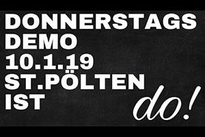 Donnerstagsdemo in St. Pölten