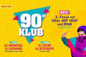 "90er Klub Ü21 *NEU +2ter Floor @ <a href=""http://www.cityflyer.at/listing/warehouse/"">Warehouse</a>"