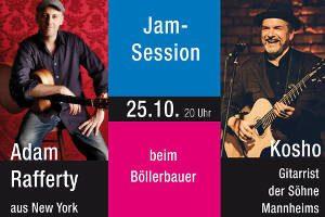 "Barry Good + Jamsession Adam Rafferty and Kosho @ <a href=""https://www.cityflyer.at/listing/boellerbauer/"">Böllerbauer</a>"