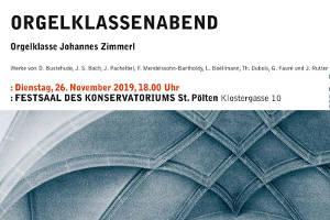 Orgelklassenabend @ Konservatorium für Kirchenmusik der Diözese St. Pölten