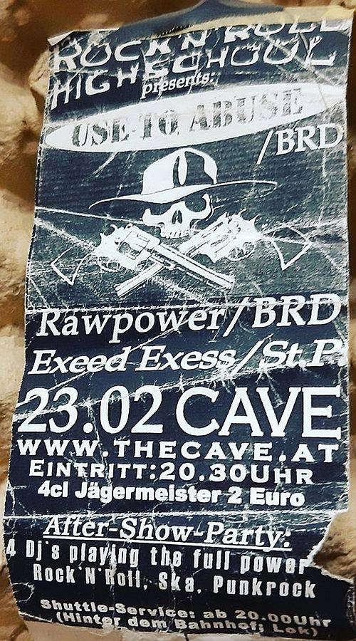 Flyer Rock'n'Roll Highschool #4 im Cave