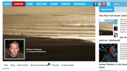 """Ansicht der Profil-Seite von Herausgeber Werner Harauer im neu gestalteten Bereich """"Leserservice""""."""