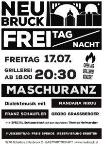 FREI TAG NACHT Konzert // Maschuranz @ Gastwirtschaft Neubruck