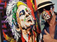 Bildender Künstler Martin Sonnleitner mit Keith Richards. Foto privat, z.V.g.