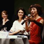 Landestheater Niederösterreich, Spielzeitpressekonferenz: im Bild Marie Rötzer, Julia Engelmayer und Ruth Brauer-Kvam. Foto @ Alexi Pelekanos