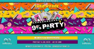 90´s Party w/ DJ ERIC from Heavybeatz @ Infinity Club Bar