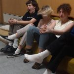 The Laundromat Chicks v.l.n.r.: Salamirecorder (b), Lena Pöttinger (dr.), Theresa Strohmer (guit.) und Tobias Hammermüller (voc., guit.). Foto: privat